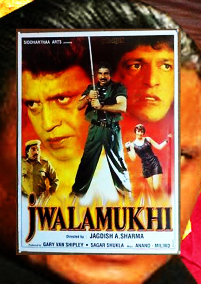 Mithun Chakraborty, Mukesh Rishi, and Jack Gaud in Jwalamukhi (2000)