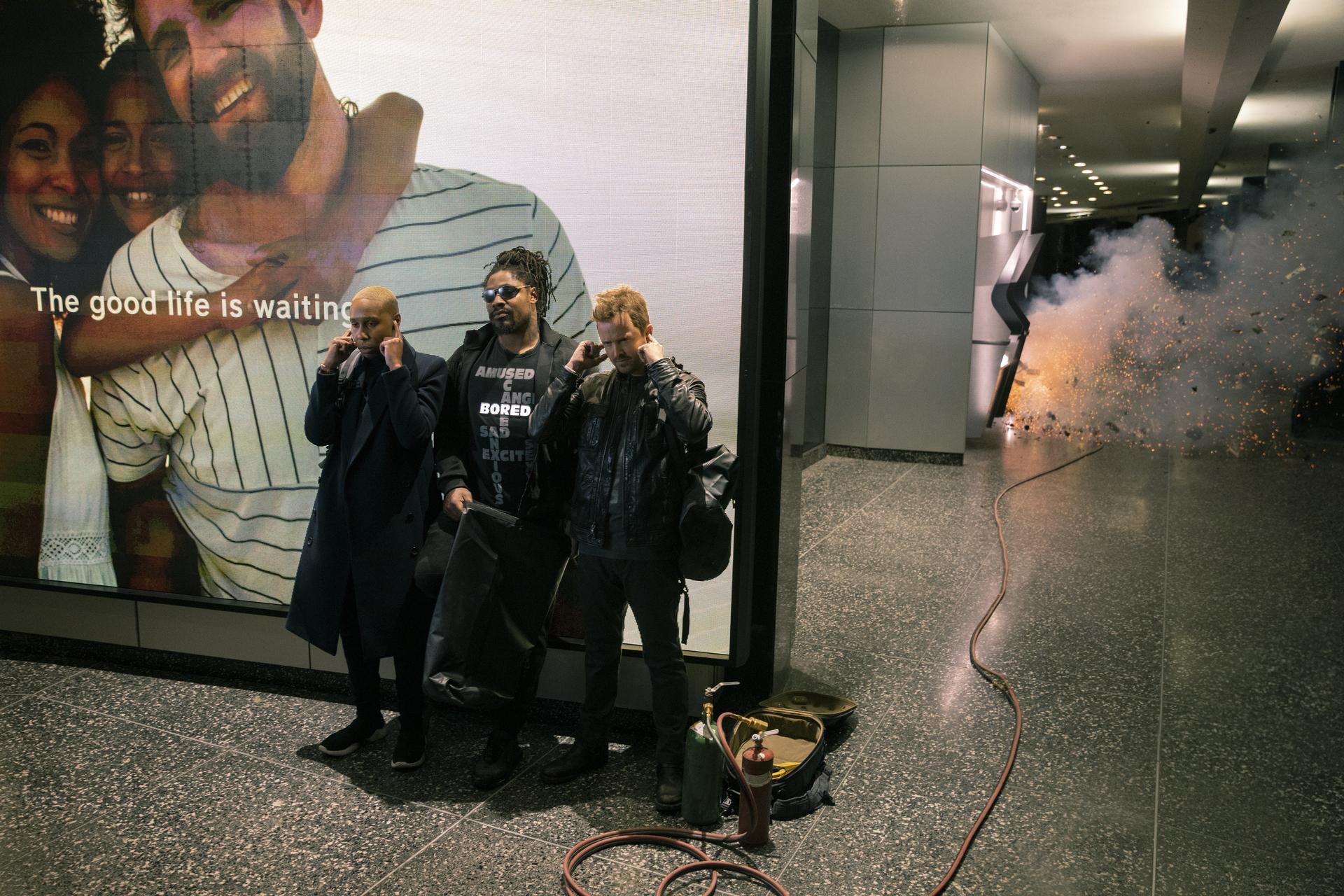 Aaron Paul, Marshawn Lynch, and Lena Waithe in Westworld (2016)