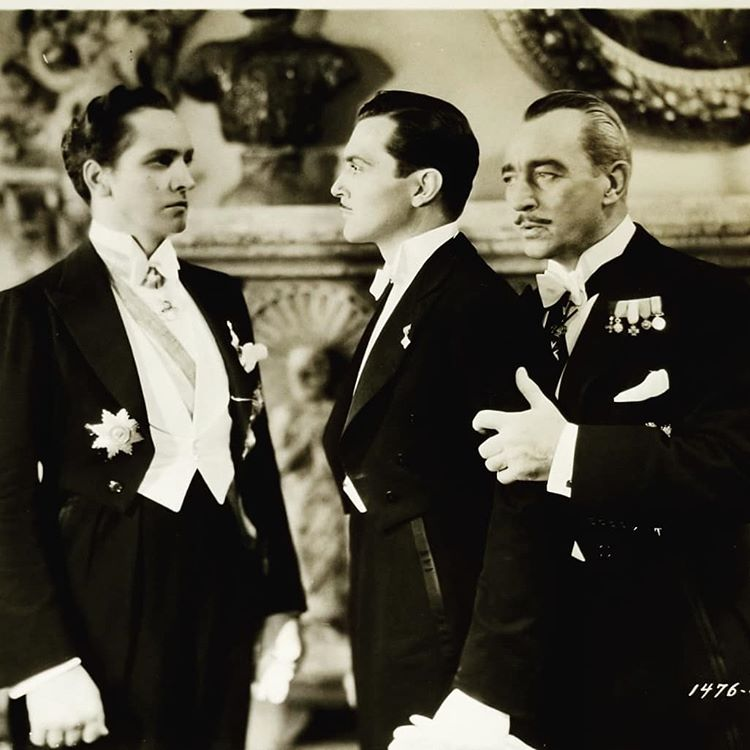 Fredric March, Guy Standing, and Kent Taylor in Death Takes a Holiday (1934)