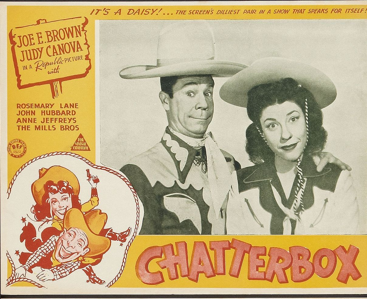 Joe E. Brown and Judy Canova in Chatterbox (1943)