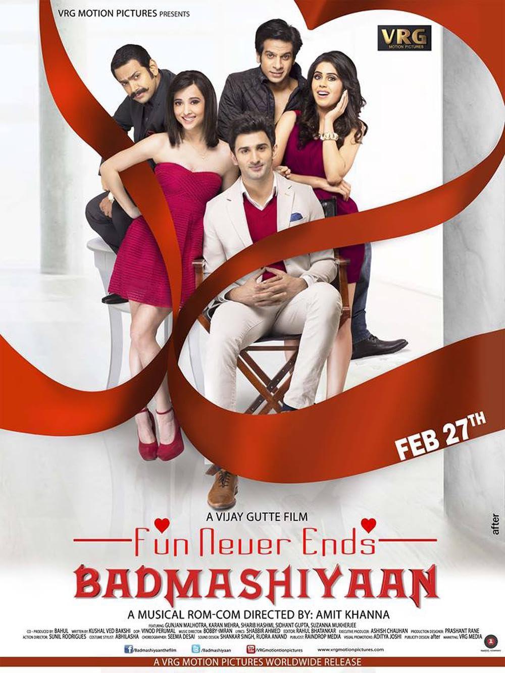 Badmashiyaan (2015) Hindi Movie HDRip 500MB Download