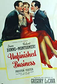 Irene Dunne, Preston Foster, and Robert Montgomery in Unfinished Business (1941)