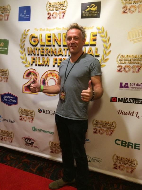 Joe Toppe at the Glendale International Film Festival.
