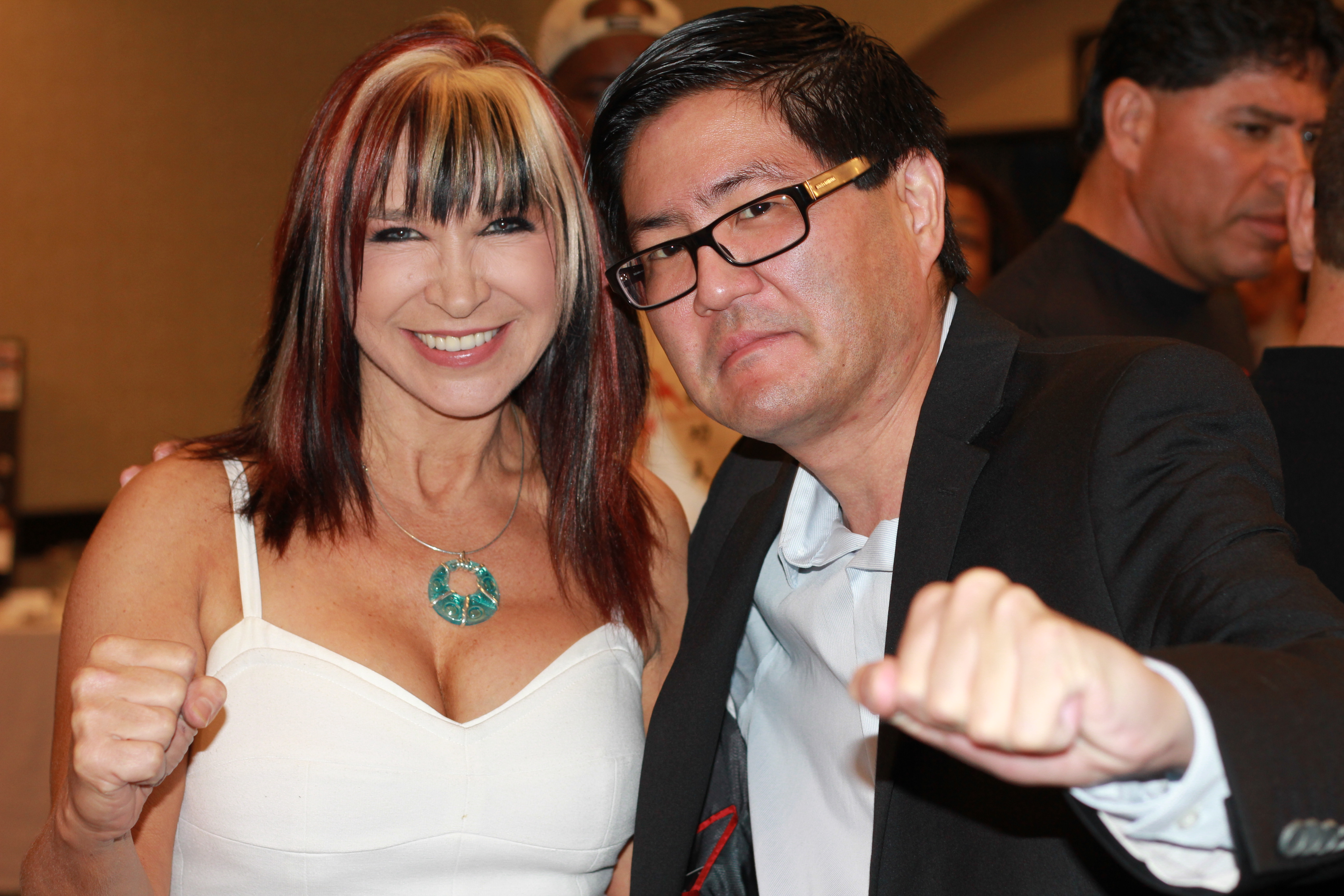 Cynthia Rothrock and Gregory Hatanaka at an event for Samurai Cop 2: Deadly Vengeance (2015)