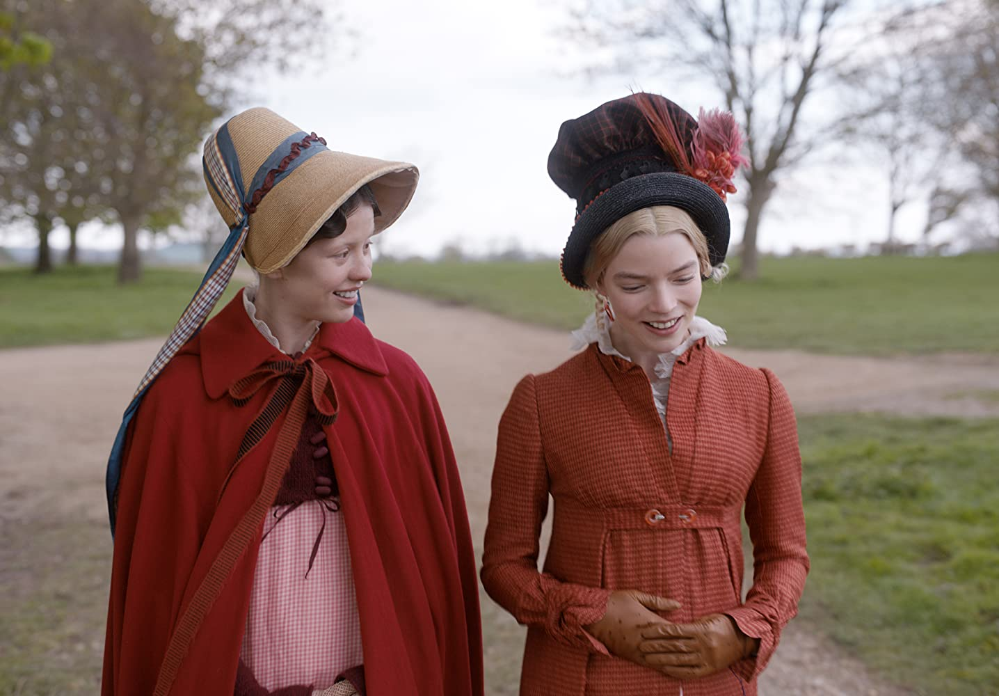 Mia Goth and Anya Taylor-Joy in Emma. (2020)