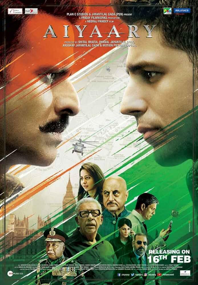 Aiyaary (2018) Hindi 720p HEVC HDRip x265 AAC ESubs Full Bollywood Movie [750MB]
