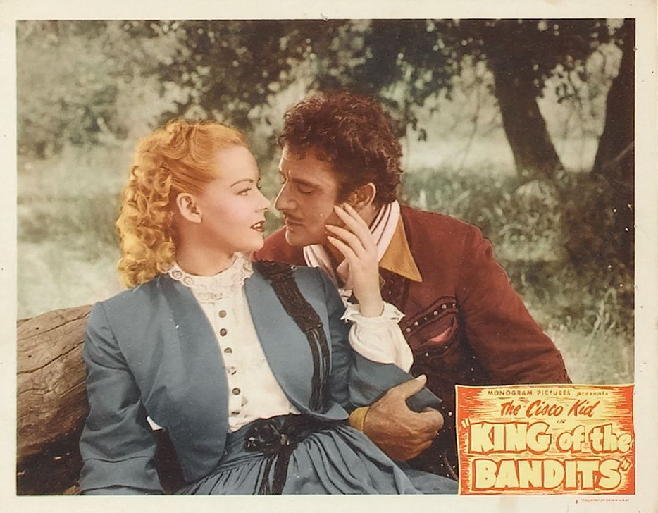 Angela Greene and Gilbert Roland in King of the Bandits (1947)