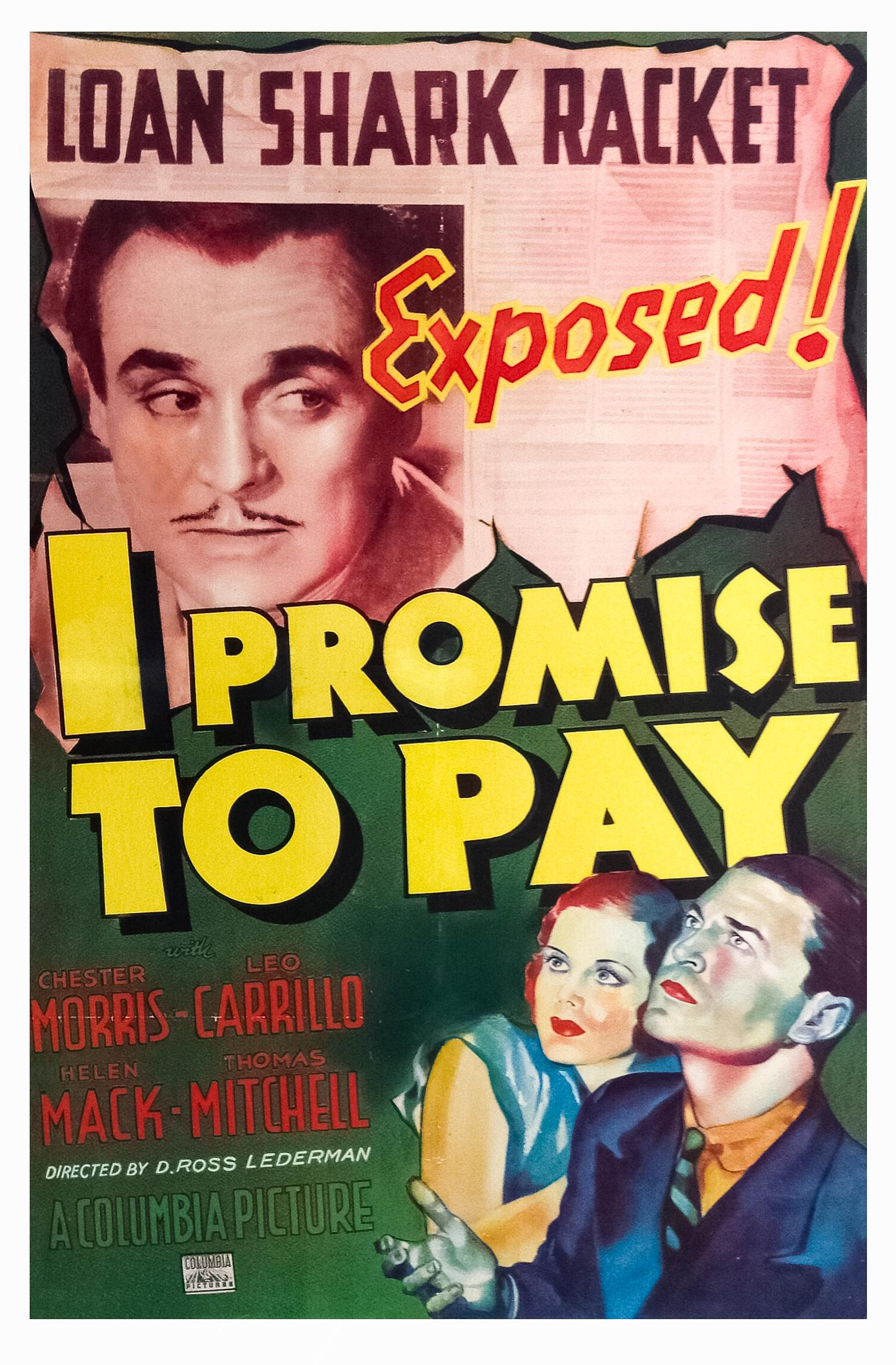 Leo Carrillo, Helen Mack, Thomas Mitchell, and Chester Morris in I Promise to Pay (1937)