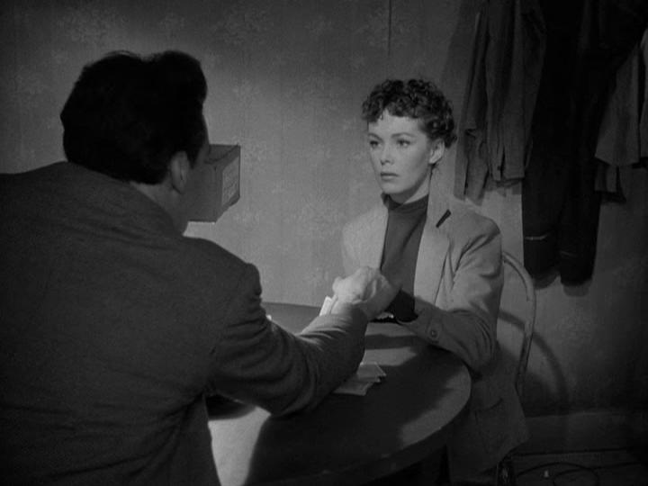 Timothy Carey and Phyllis Kirk in Crime Wave (1953)