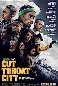 Ethan Hawke, Wesley Snipes, Terrence Howard, Kat Graham, Denzel Whitaker, T.I., Eiza González, Shameik Moore, Keean Johnson, and Demetrius Shipp Jr. in Cut Throat City (2020)