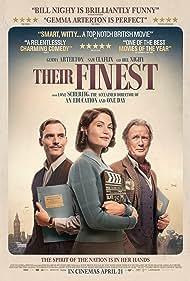 Bill Nighy, Gemma Arterton, and Sam Claflin in Their Finest (2016)