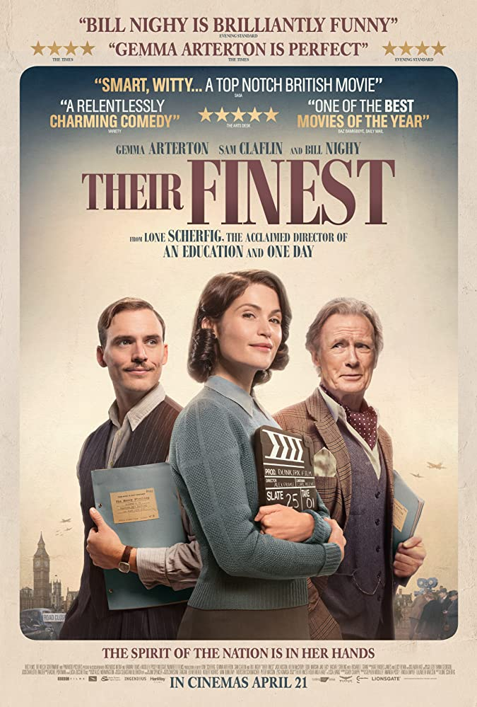 Bill Nighy, Gemma Arterton, and Sam Claflin in Their Finest (2016)