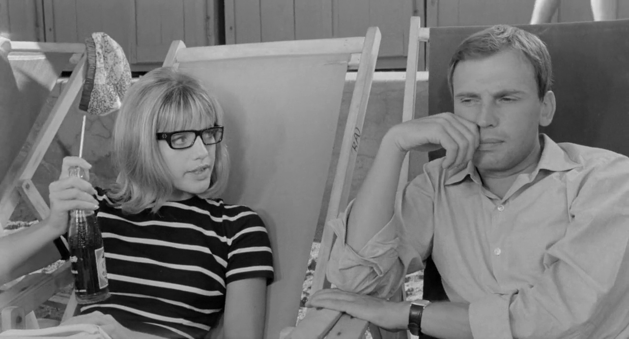Jean-Louis Trintignant and Catherine Spaak in Il sorpasso (1962)