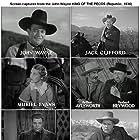 John Wayne, Arthur Aylesworth, Muriel Evans, J. Frank Glendon, Herbert Heywood, Cy Kendall, and Jack Rube Clifford in King of the Pecos (1936)