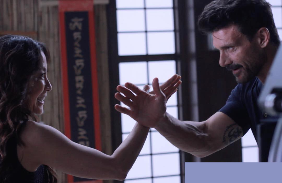 Michelle Yeoh and Frank Grillo in Boss Level (2020)