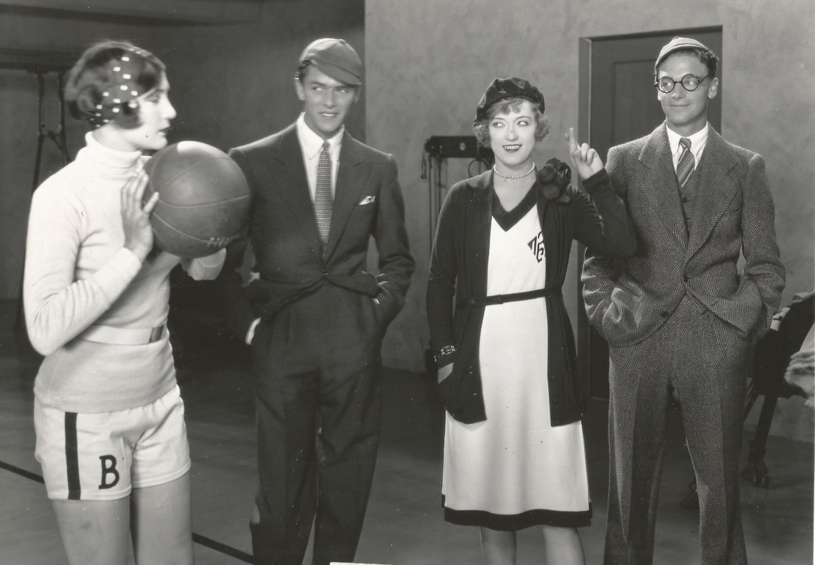 Marion Davies, Dean Harrell, Gene Stone, and Jane Winton in The Fair Co-Ed (1927)