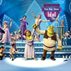 Antonio Banderas, Cameron Diaz, Mike Myers, Rupert Everett, Eddie Murphy, Larry King, Aron Warner, Conrad Vernon, and Cody Cameron in Shrek 2 (2004)