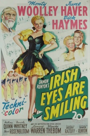 June Haver, Dick Haymes, and Monty Woolley in Irish Eyes Are Smiling (1944)