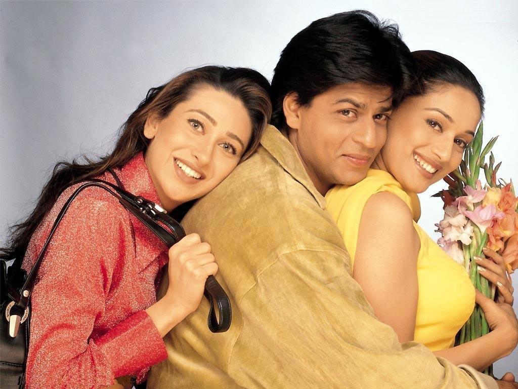 Madhuri Dixit, Karisma Kapoor, and Shah Rukh Khan in Dil To Pagal Hai (1997)