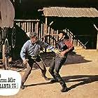 Pinkas Braun and Brad Harris in Die schwarzen Adler von Santa Fe (1965)