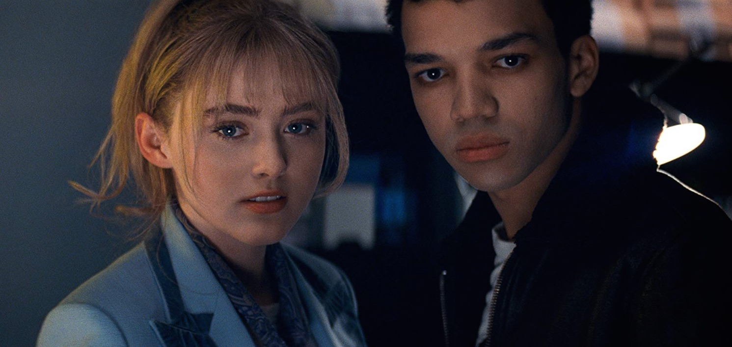 Kathryn Newton and Justice Smith in Pokémon Detective Pikachu (2019)