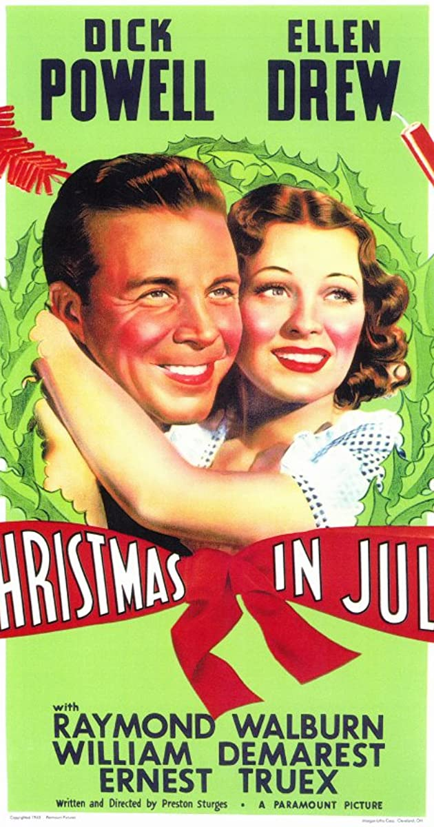 Christmas in July (1940) Subtitles