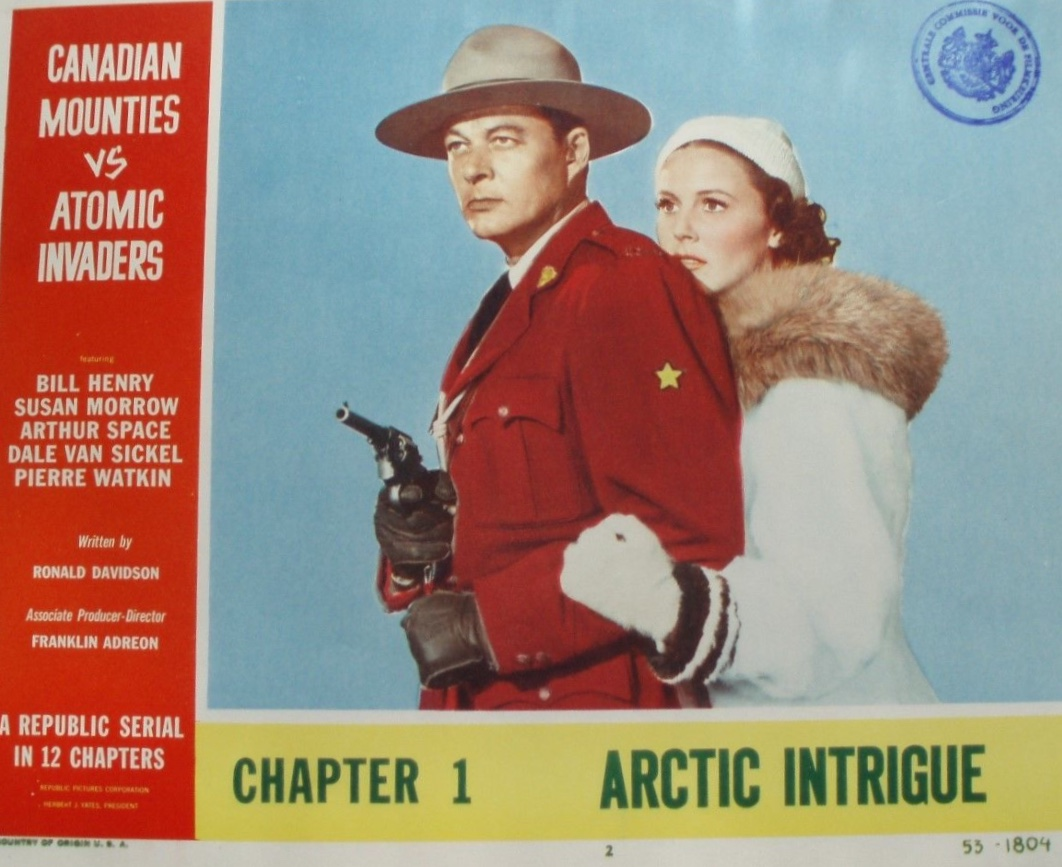 William Henry and Susan Morrow in Canadian Mounties vs. Atomic Invaders (1953)