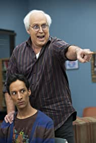 Chevy Chase and Danny Pudi in Community (2009)