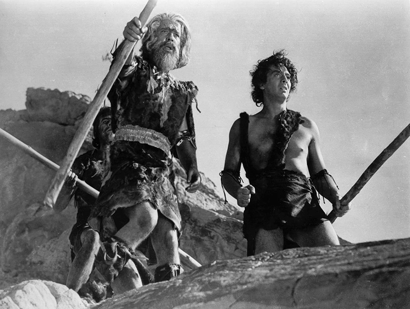 Lon Chaney Jr. and Victor Mature in One Million B.C. (1940)