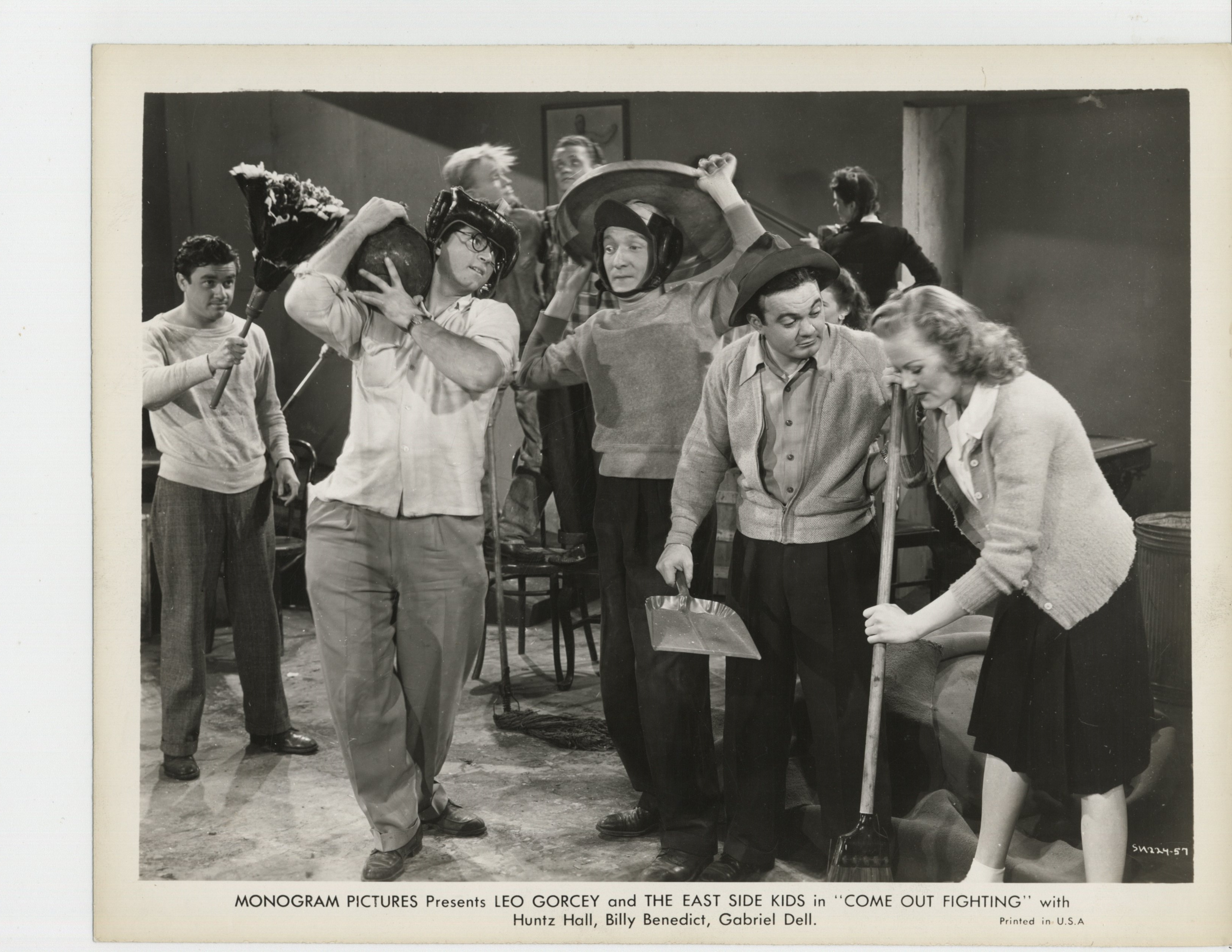 June Carlson, Leo Gorcey, and Huntz Hall in Come Out Fighting (1945)