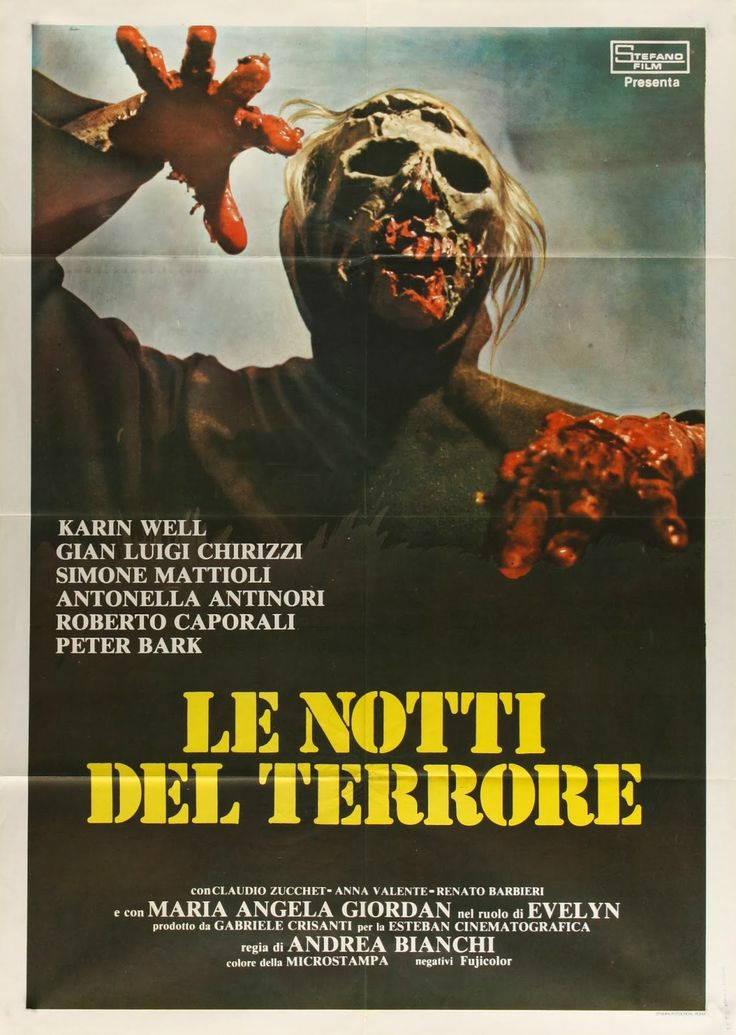 1981 BURIAL GROUND The Nights of Terror Movie Poster