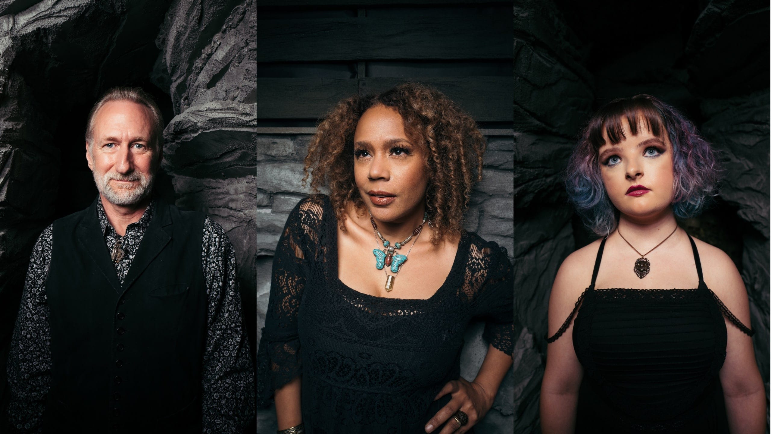 Brian Henson, Rachel True, and Milly Shapiro in Witches (2020)