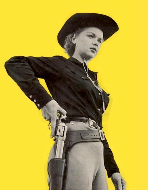 Anne Francis in The Hired Gun (1957)