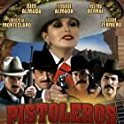 Fernando Almada, Mario Almada, Lorenzo de Monteclaro, and Álvaro Zermeño in Pistoleros famosos (1981)