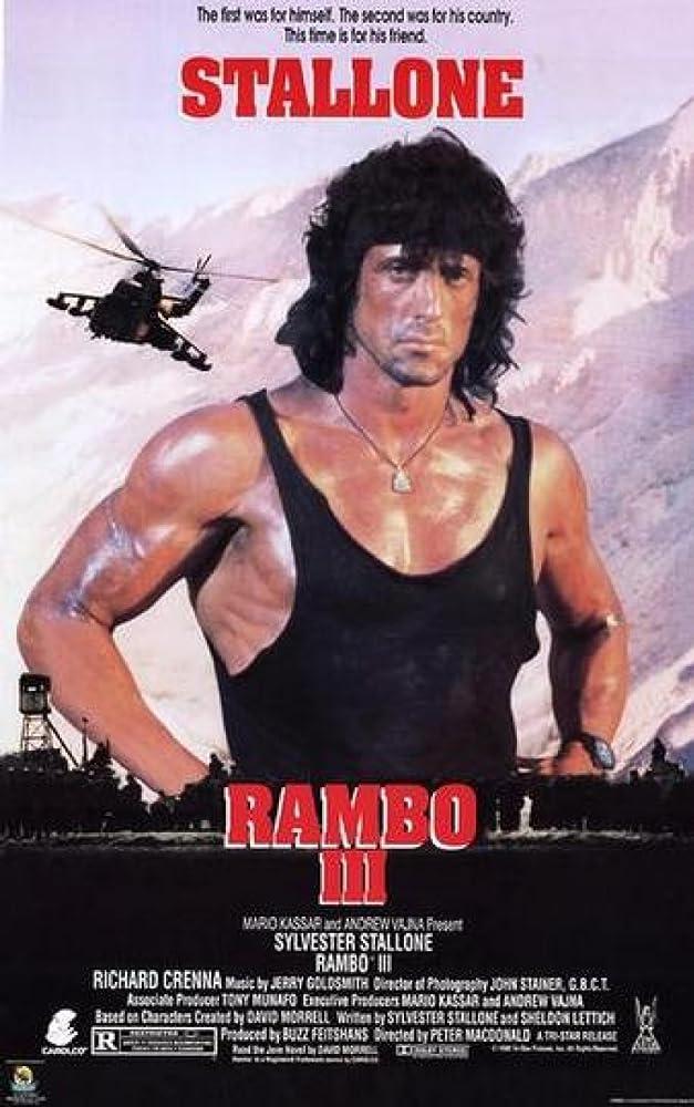 Sylvester Stallone in Rambo III (1988)