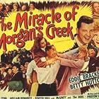 Betty Hutton, Eddie Bracken, William Demarest, Porter Hall, and Diana Lynn in The Miracle of Morgan's Creek (1943)