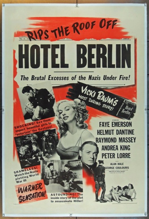 Peter       Lorre and Faye Emerson in Hotel Berlin (1945)