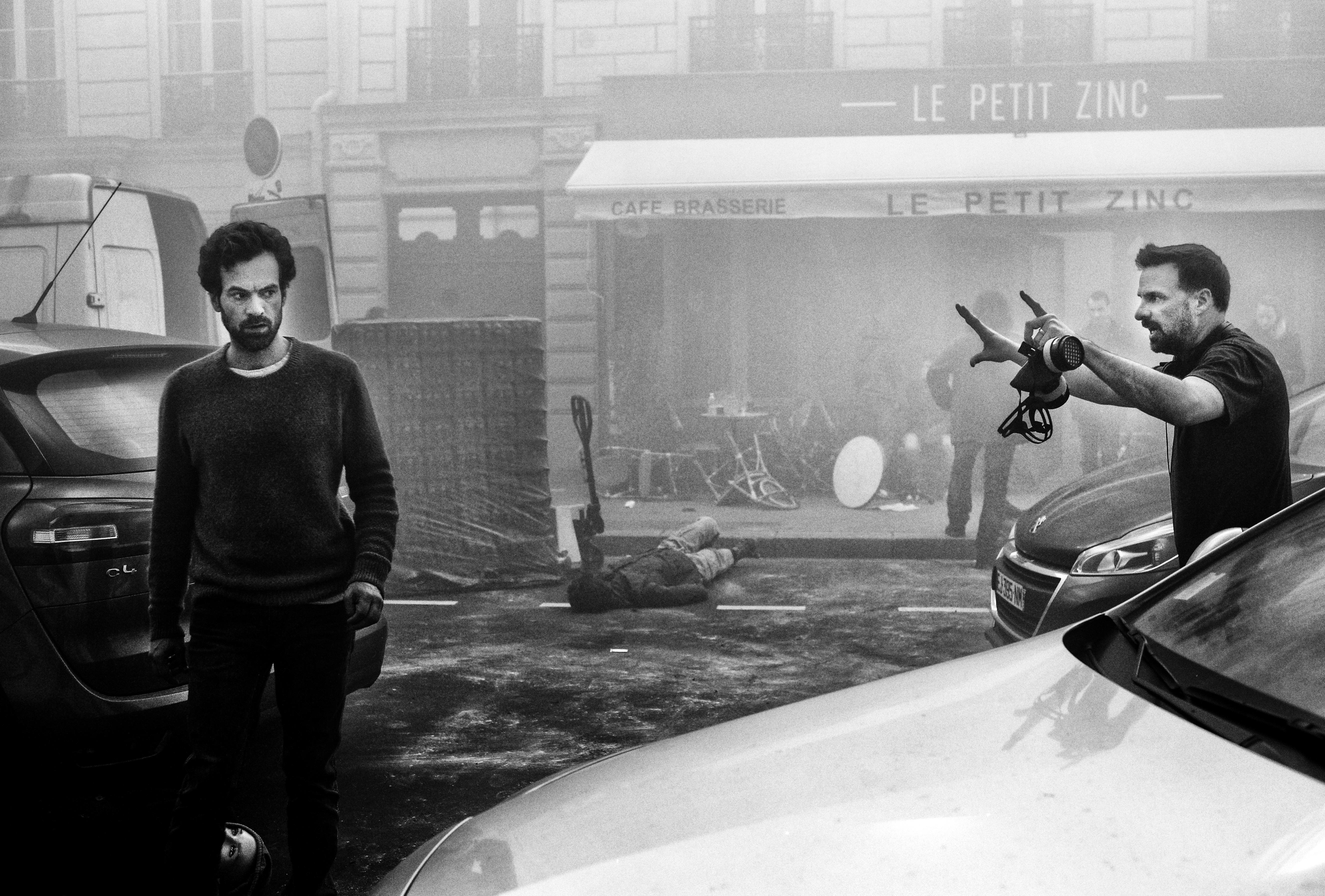 """On set of """"Just a Breath Away"""" with Romain Duris"""