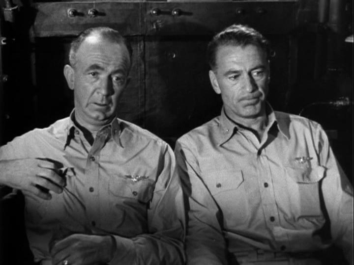 Gary Cooper and Walter Brennan in Task Force (1949)