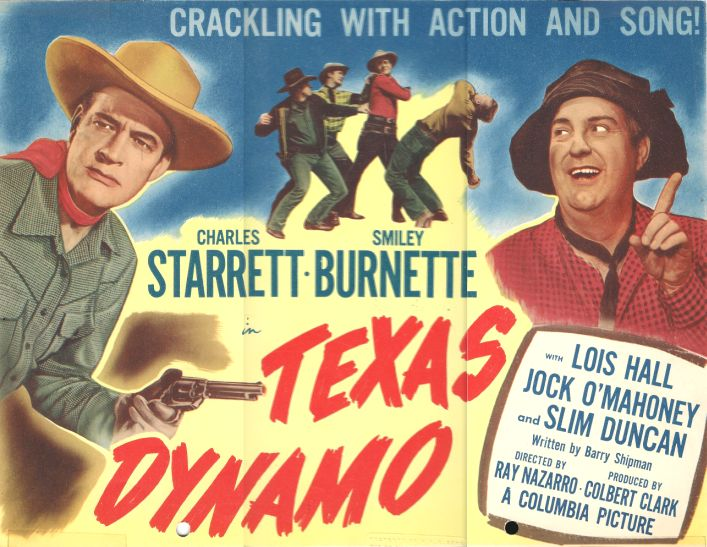 Smiley Burnette and Charles Starrett in Texas Dynamo (1950)