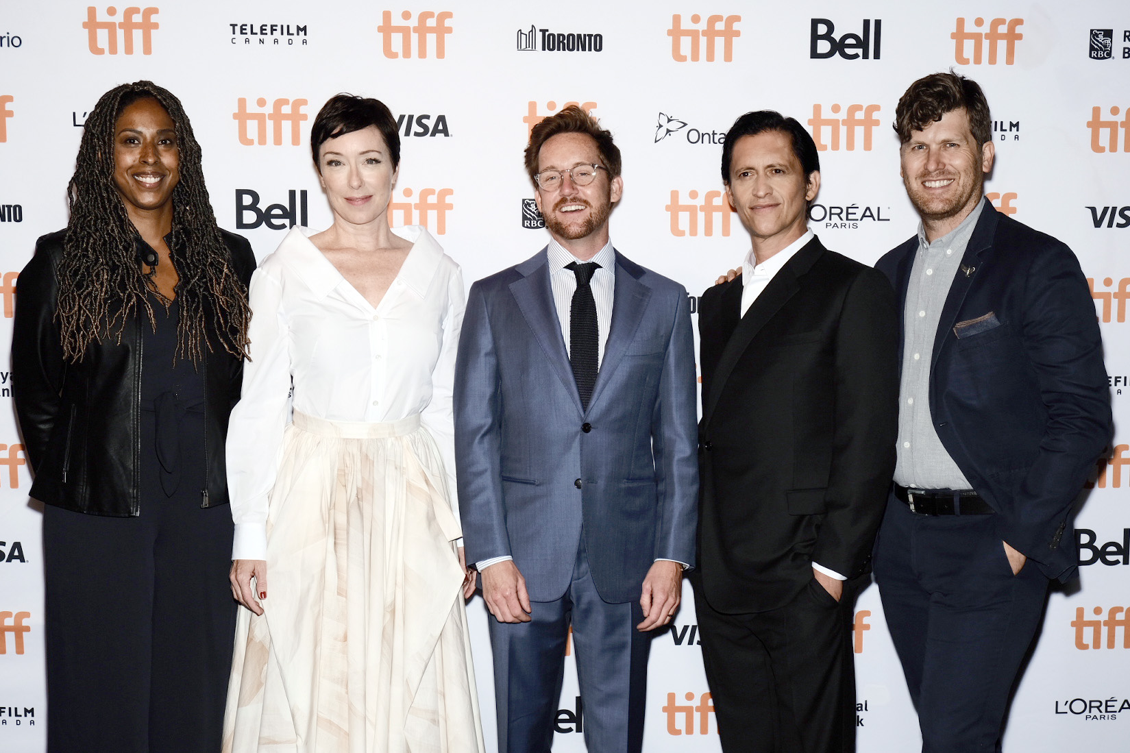 Clifton Collins Jr., Molly Parker, Robyn Citizen, Clint Bentley, and Greg Kwedar at an event for Jockey (2021)