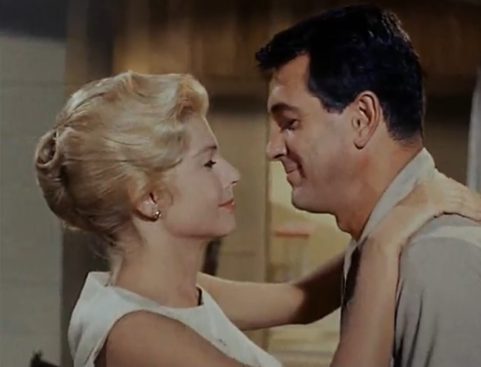Rock Hudson and Mary Peach in A Gathering of Eagles (1963)