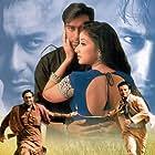 Ajay Devgn, Saif Ali Khan, and Manisha Koirala in Kachche Dhaage (1999)