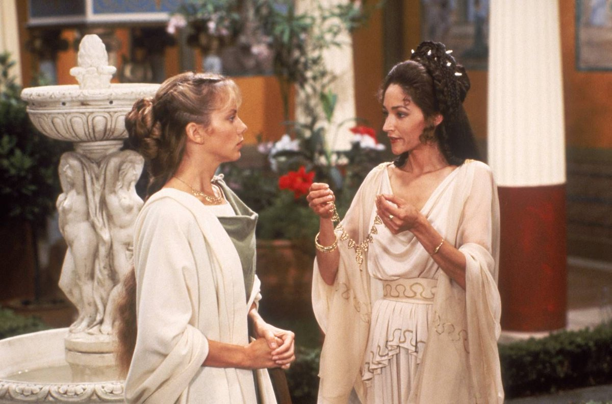 Olivia Hussey and Linda Purl in The Last Days of Pompeii (1984)