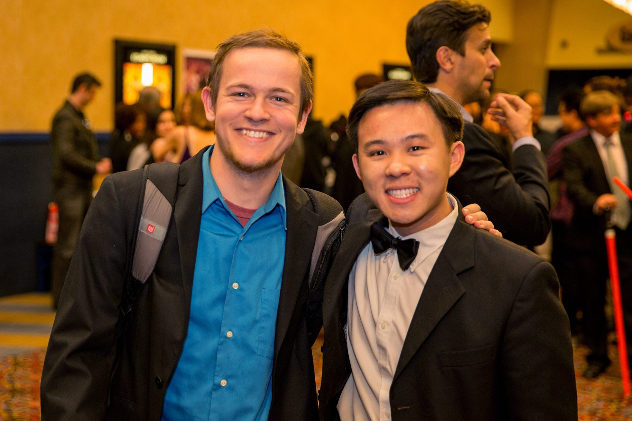 Daniel Ellis and Joshua Hoh at an event for Star Trek Wars (2015)