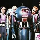 Marc Jackson, Patrick Byrnes, Gregory Bond, Jeffrey Casey, Craig Quiter, and Tom Nolan in Voyage of the Rock Aliens (1984)
