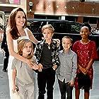 Angelina Jolie, Shiloh Jolie-Pitt, and Vivienne Jolie-Pitt at an event for The Breadwinner (2017)