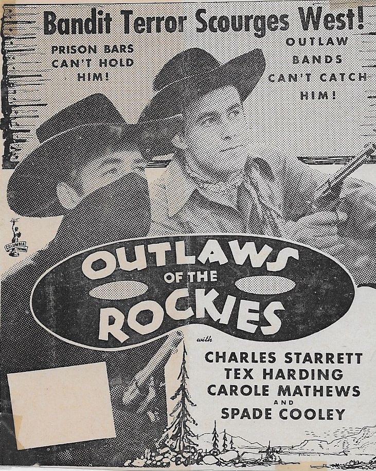 Tex Harding and Charles Starrett in Outlaws of the Rockies (1945)