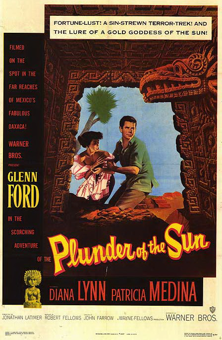 Glenn Ford and Diana Lynn in Plunder of the Sun (1953)