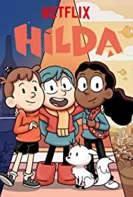 Ameerah Falzon-Ojo, Bella Ramsey, and Oliver Nelson in Hilda (2018)